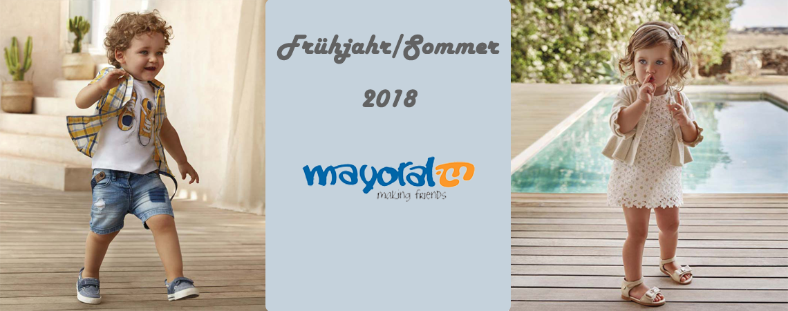 Neue Kollektion 2018 von Mayoral bei Babydreams