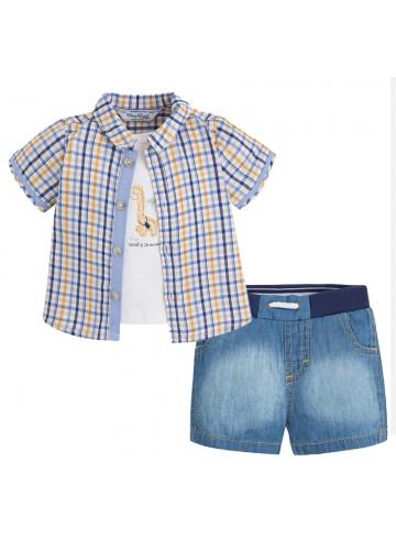 MAYORAL Hemd und Jeansshorts