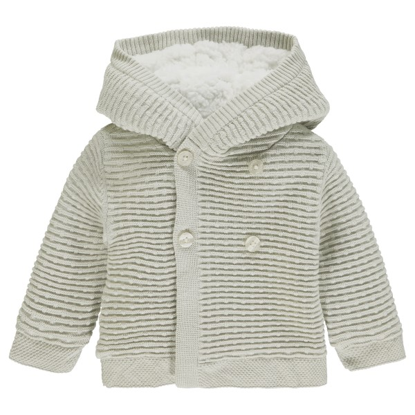 "NOPPIES Baby Strickjacke Texas mit Kapuze ""Dove"""