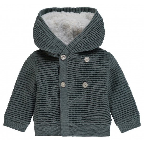 "NOPPIES Baby Strickjacke Texas mit Kapuze ""Army"""