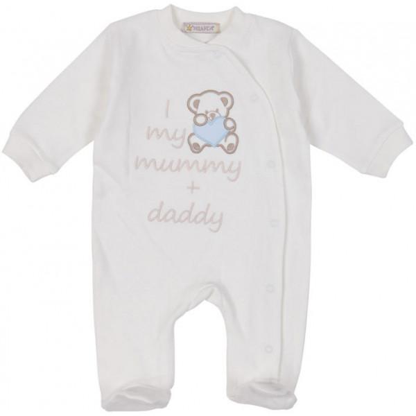 "MILARDA Buben Strampler ""I love my mummy & daddy"""