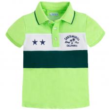 MAYORAL Buben Kurzarm-Poloshirt in kombiniertem Design
