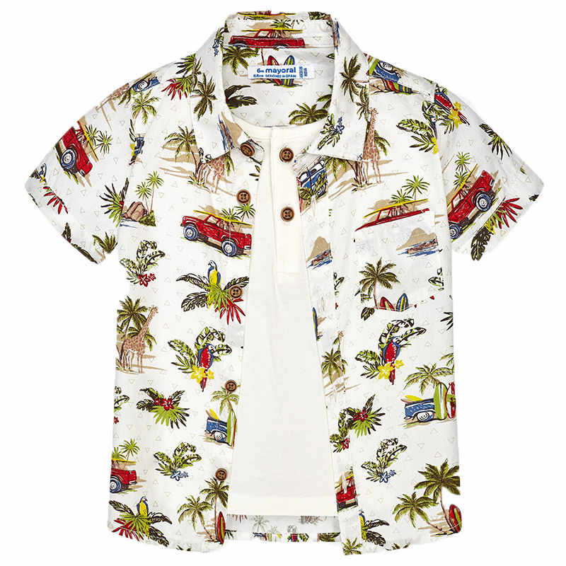 "MAYORAL Buben Hemd 2 in 1 ""Hawaii"""