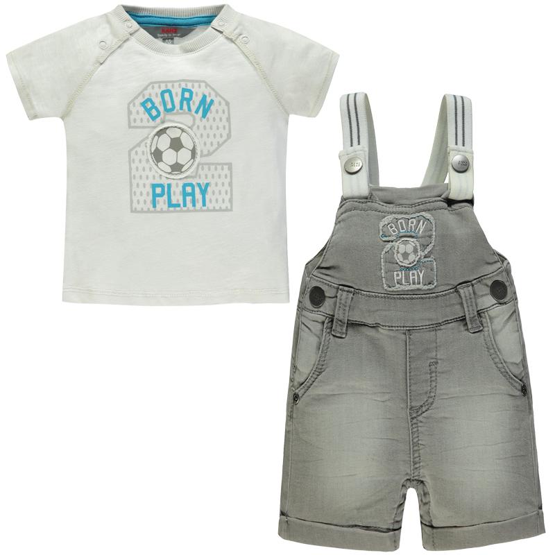 "KANZ Bubenoutfit T-Shirt und Latzhose ""Little Champ"""