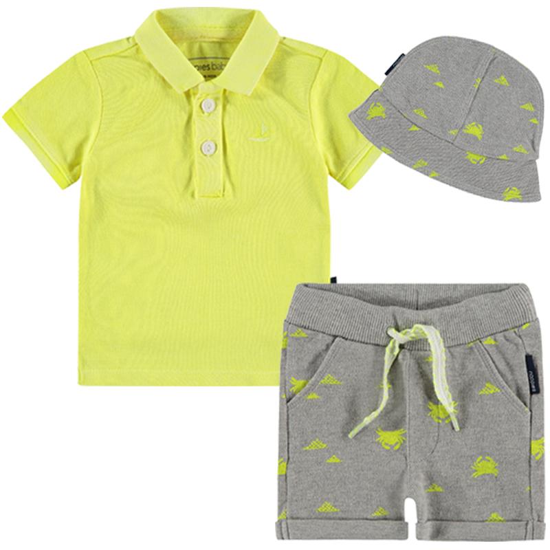 NOPPIES Buben Sommeroutfit T-Shirt, Shorts und Sonnenhut