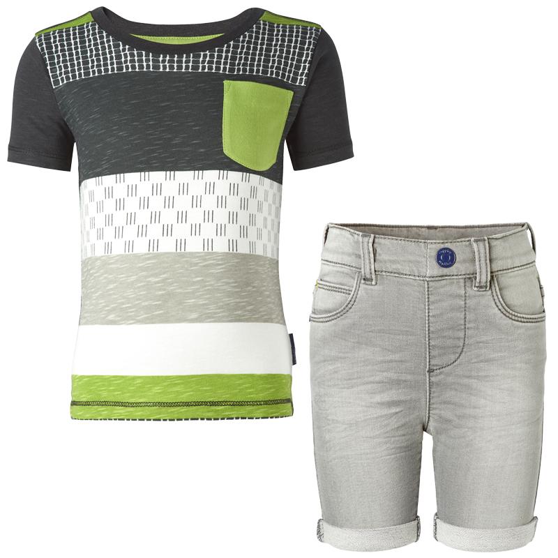 NOPPIES Buben Sommeroutfit T-Shirt und Shorts