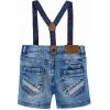 MAYORAL Baby Jeansshorts mit Hosenträgern