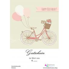 """Geschenkgutschein Happy Birthday """"Fahrrad"""""""