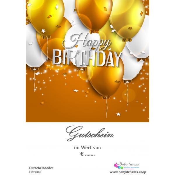 """Geschenkgutschein Happy Birthday """"Luftballon"""""""