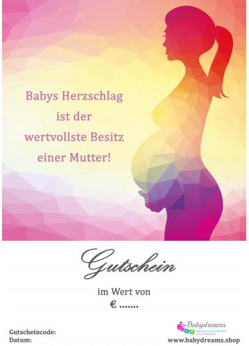 """Geschenkgutschein Schwangerschaft """"werdende Mami"""""""