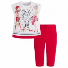 """MAYORAL Mädchen Caprihose und T-Shirt Set """"Fashionista"""""""