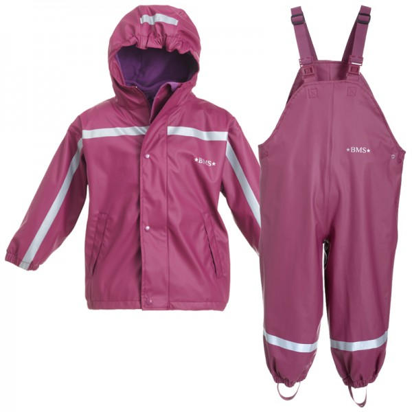 "BMS 3-teiliges Regen-Set mit ZipIn Fleecejacke ""Purple"""