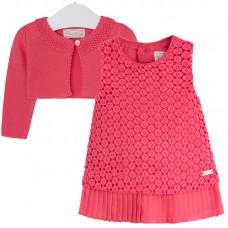 MAYORAL festliches Sommeroutfit Kleid und Strickbolero