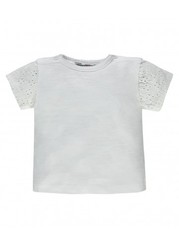 KANZ Mädchen T-Shirt mit Lochstickerei