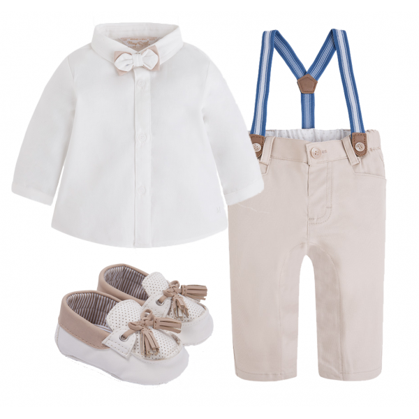"""MAYORAL 3-teiliges Tauf-Outfit """"Creme"""""""