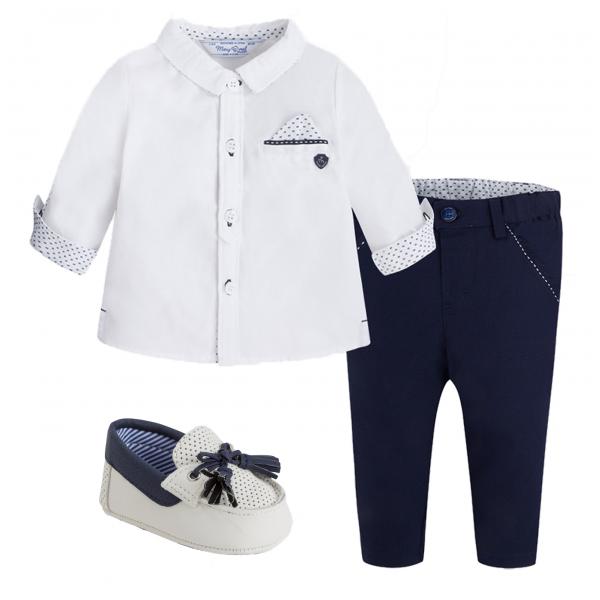 "MAYORAL 3-teiliges Tauf-Outfit ""Dunkelblau"""