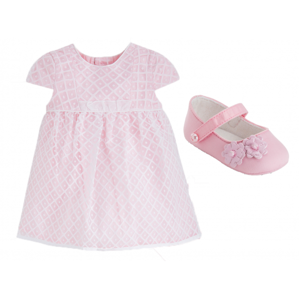 """MAYORAL 3-teiliges Tauf-Outfit """"Rosa"""""""