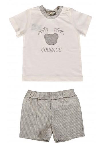 MILARDA T-Shirt und Short Set COURAGE