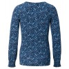 ESPRIT blaues Still-Shirt  mit All-Over Print