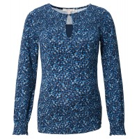 ESPRIT blaues Still-Shirt  mit All-Over Print